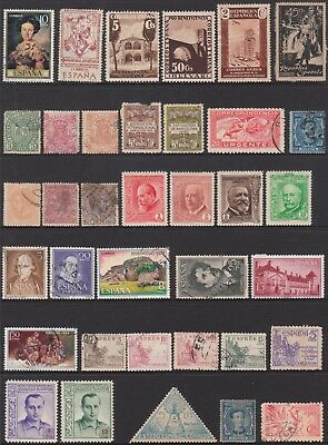 SPAIN No.3  COLLECTION OF (36) STAMPS  MINT / VFU