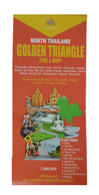 Thailand Road Map: GT-Rider Golden Triangle Motorcycle Touring Map