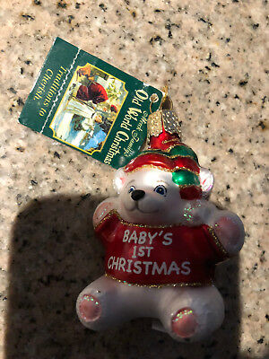 Merck Family's ORNAMENT Baby'S 1St Christmas 7133485 Brand NEW!