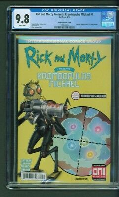 Rick and Morty Presents Krombopulos Michael 1 CGC 9.8 Vasquez Variant Cover ASM
