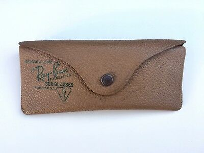 HTF Vintage Bausch & Lomb Ray Ban Leather Sunglass Case Only Great Condition