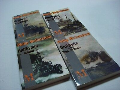 Lot Of 4 Philip Mccutchan Halfhyde Adventures Paperback Naval Book Lot