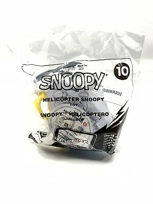 McDonalds Happy Meal Peanuts  Helicopter Snoopy Figuer Toy #10 2018