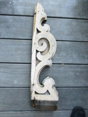 Single Antique Corbel Porch Bracket Victorian Gingerbread Vintage Shabby Painted