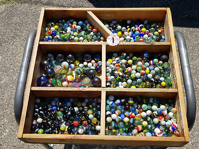 Massive 7 Kg Mixed Antique Deceased Estate Collection Of 1000 Old Toy Marbles