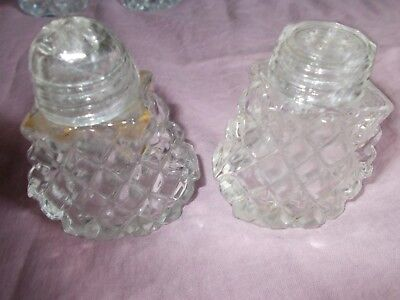 Cut Glass Salt And Pepper Shakers