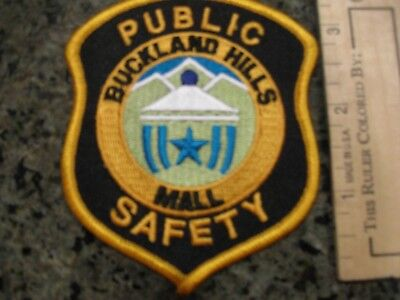 Buckland Hills Mall Connecticut Public Safety police patch CT