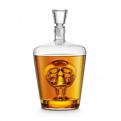 NEW FINAL TOUCH BRAIN FREEZE SKULL DECANTER 1000ml Lead Free Alcohol Jug Whisky