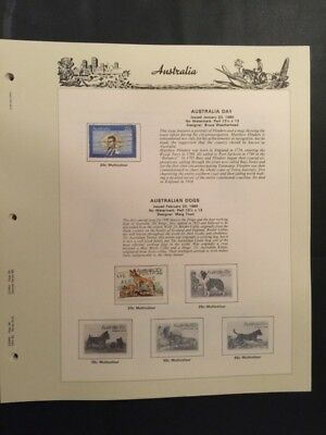 Australian stamp album pages from Seven Seas 1980 to 1985 (42 pages with stamps)