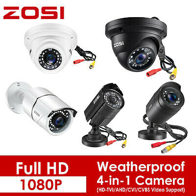 ZOSI 1080P 4in1 Security Camera Outdoor IR Night Vision Home CCTV Surveillance