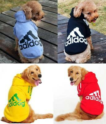 Adidog Dog Clothes Winter Coat Warm Hoodie Jacket Clothing Casual for Pets Dog