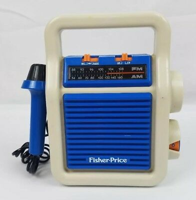1984 FISHER PRICE Sing-Along AM/FM Radio With MIC Tested & Works Great!