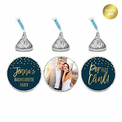 Andaz Press Navy Blue and Metallic Gold Bachelorette Party Bridal Shower Photo