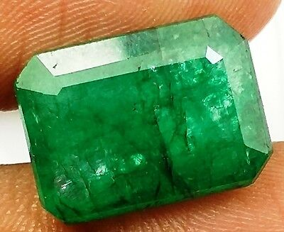 7.00 CT Colombian Emerald Natural GIE Certified Wonderful Quality Awesome Gem