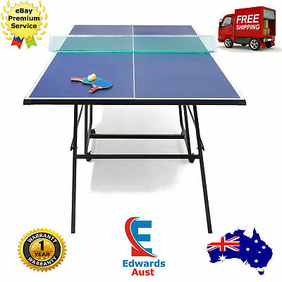 Portable Table Tennis Outdoor Folding Pro Size Ping Pong Family Blue Sport Balls