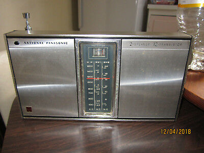National Panasonic 2 Speaker 12 Transistor Radio