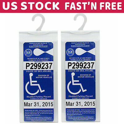 Handicap Parking Permit Holder Cover Disabled Parking Placard Protector Pack 2