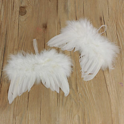 10X Guardian Angel White Feather Wing Christmas Tree Decoration Hanging Ornament