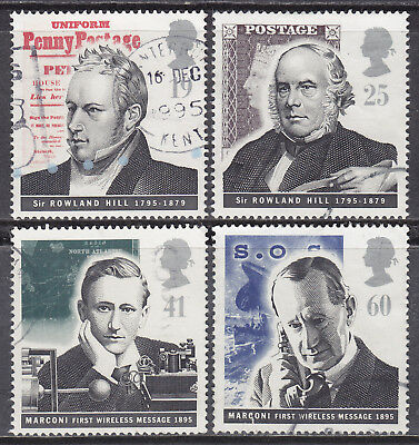 1995 GB Pioneers Of Communication SG 1887-1890 Set Of 4 Used Stamps