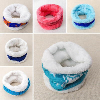 New Letter Collar Knitting Scarves Autumn Winter Warm Circle Fleece Round Scarf