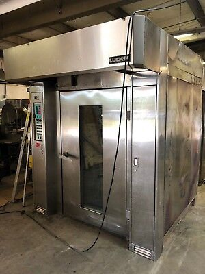 Lucks R20G Double Rack Bakery Baking Natural Gas Oven 275,000 BTU with Hood