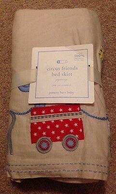 Pottery Barn Baby Circus Friends Crib Bed Skirt New
