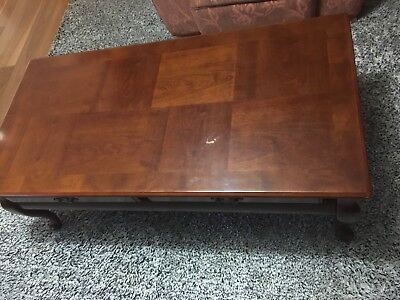 Queen Anne Style Timber Coffee Table with 2 Matching Side Tables