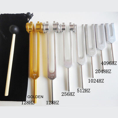 128Hz-4096Hz Medical Neurological Tuning Fork Chakra Hammer Sound Heal Therapy