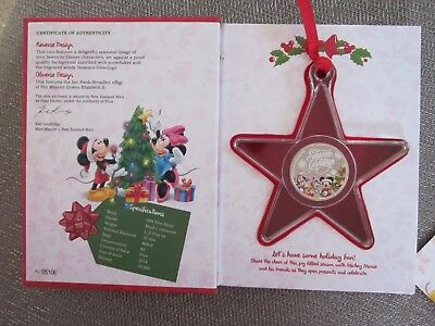 2014 Disney Seasons Greetings 1/2oz Silver Coin Ornament Limited Edition