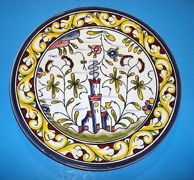 "Nazari Williams Sonoma Portugal Hand Painted 8"" No.126 Salad Plate + BONUS PLATE"