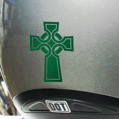 Celtic Cross Reflective Decal for your Bike, Motorcycle, or Helmet #676R