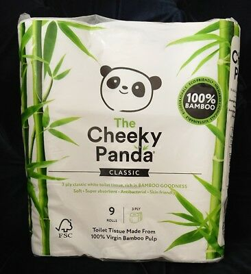 Bamboo Toilet Roll sustainable and renewable 9 Rolls 3 ply 200 sheets very soft