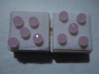 chalcedony cabochons pink round cut 6.3mm parcel of 10 stones easy low start