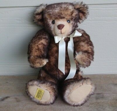 Merrythought Ironbridge Shrops English Mohair Fully Jointed Toy Bear 15 1/2""