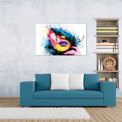 A0EA Modern Abstract Canvas Wall Art Painted Oil Painting Woman Face No Frame