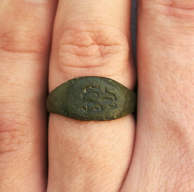**Mythological Dragon** Ancient Bronze Legionary Roman Ring AMAZING