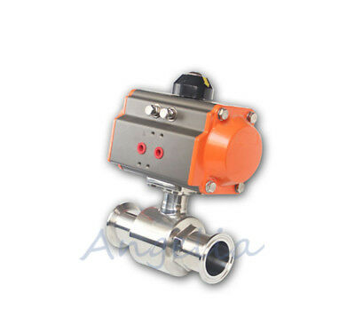 "4"" Stainless Steel 304 Tri-Clamp Type Sanitary Pneumatic Ball Valve"