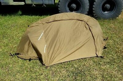 USMC Catoma Coyote RAIN_FLY & POLE for Bed Net PopUp 1-man Tactical Tent. NICE!!