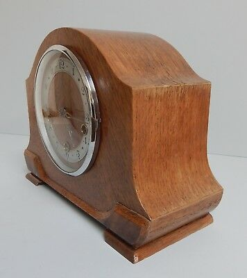 ANTIQUE 1940s' SMITHS ENFIELD WESTMINSTER CHIMING MANTLE CLOCK
