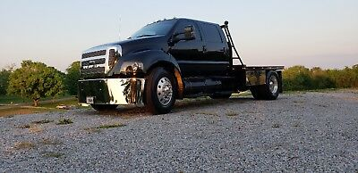 Custom Ford F650 Truck New Black Paint Immaculate Condition Low Miles Must See
