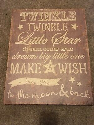 Twinkle Twinkle Mamas And Papas Wall Canvas