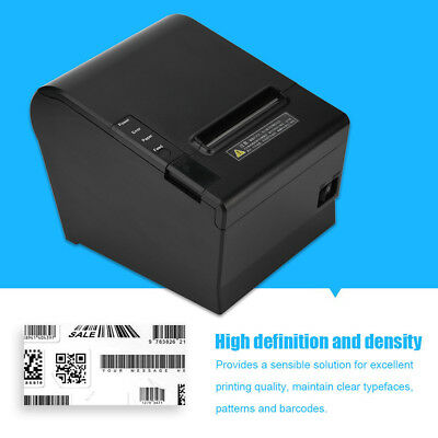 80mm Mini USB Ticket Thermal Printer Receipt POS ESC Printing + Roll Paper UK
