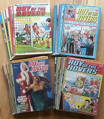 Big Bundle 91x Roy of the Rovers 1980s 80 81 82 83 87 incl Royal Wedding Special