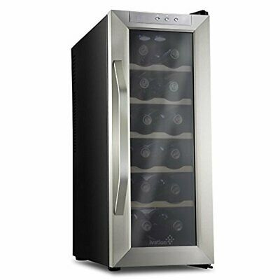 Stainless Steel Ivation 12 Bottle Thermoelectric Wine Cooler/Chiller