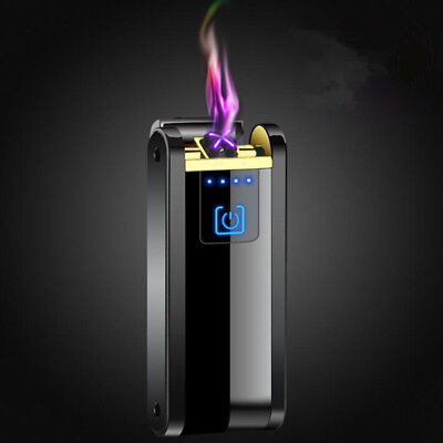 Double arc Touch switch lighters Windproof flameless USB Electronic charging