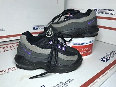 hot sale online 24178 0d687 Size 5.5c Toddlers Nike Air Max 95 (TD) 311525 022 Black Purple Shoes