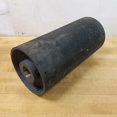 """Steel Conveyor Pulley Drum w/ Lagging Cover, 8-1/2""""D x 18""""OAL x 2-3/16"""" x 1/2"""""""