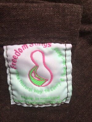 Baby Caring Sling Vgc In Brown