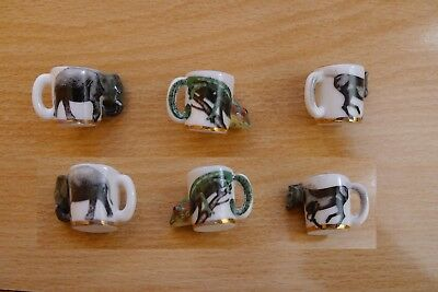 lot de 3 fèves tasses animaux