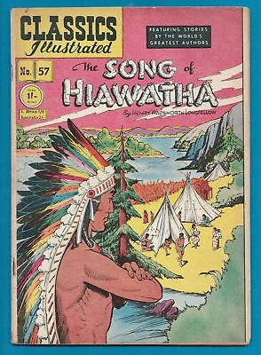 Classics Illustrated Comic Book #57 Song of Hiawatha by Longfellow early ed.#234